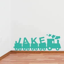 childrens name train wall sticker by wallboss wallboss wall childrens name train wall sticker