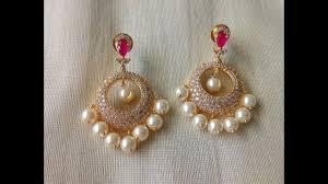 top earings top beautiful pearl drop earring designs