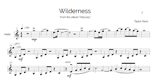 Violin Cover Sheet Music by Wilderness U2013 Violin Sheet Music With Play Along Piano