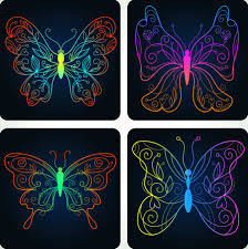 beautiful butterfly pattern 04 vector free vector 4vector