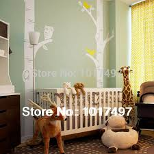 Tree Decal For Nursery Wall Free Shipping Oversized Birch Tree Wall Decals For Nursery Baby