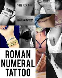roman numeral tattoo designs 2017 tattoos designs and collection