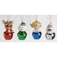 set of 4 rudolph and friends jingle buddies ornaments