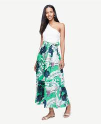 maxi skirt palm leaf maxi skirt