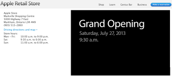 apple store at markville shopping centre grand opening saturday
