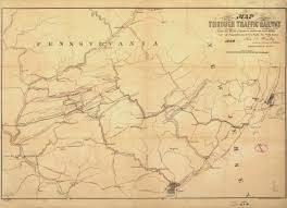 Road Map Of Pennsylvania by New Jersey Historical Maps