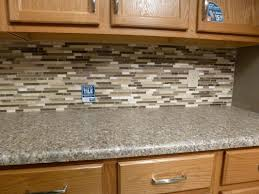 small kitchen decoration using brown grey glass kitchen backsplash