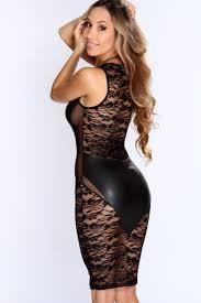 club dresses us 4 95 black faux leather floral lace mesh black club