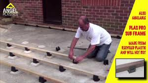 how to install millboard garden decking angel plastics youtube