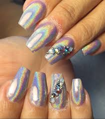 holographic chrome pigment nails nail art gallery