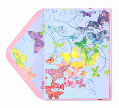 butterflies in rainbow colors birthday cards papyrus