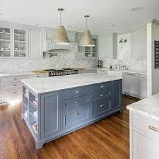 white kitchen cabinets with blue island gray blue island with light gray cabinets light gray