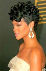 mohawk hairstyles for curly hair rihanna short curly mohawk