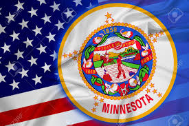 Maine State Flag Waving Usa And Minnesota State Flag Stock Photo Picture And