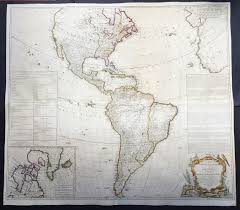 Large Vintage World Map by 1772 Gibson U0026 Sayer Large Antique Map Of America The French