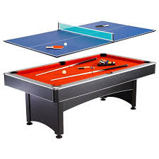 Brunswick Table Tennis Hathaway Maverick 7 Foot Pool And Table Tennis Multi Game With Red