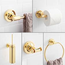 modern bathroom accessory set signature hardware