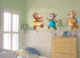 stickers nounours chambre bébé stickers nounours chambre bebe chambre idées de décoration de