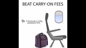 beat carry on fees with the travelon underseat tote youtube