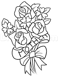 how to draw mothers day flowers step by step flowers pop