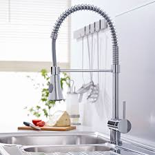 milano chrome pull down spray kitchen tap taps kitchens and house