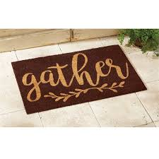 gather thanksgiving coir doormat mud pie