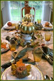 corner of plaid and paisley white and gold fall tablescape