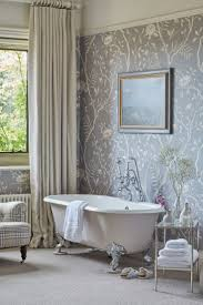 wallpaper ideas for bathroom modest wallpaper in bathroom ideas 75 with addition house plan