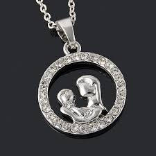 s day charm necklace trendy and baby fully circle pendant necklace s
