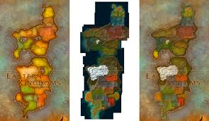 World Of Warcraft Map Eastern Kingdoms Map From World Of Warcraft Game Maps Com