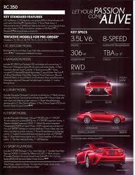 lexus vehicle dynamics integrated management lexus rc 350 specs and trim levels revealed autoevolution