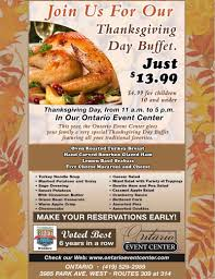 thanksgiving buffet ontario event center catering weddings