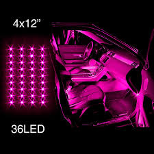 amazon com pink 4pcs 36 led waterproof three mode neon accent