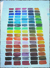 watercolor love color mixing chart one heart art