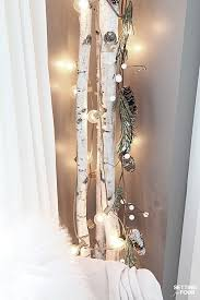 10 minute winter decorating with birch poles setting for four