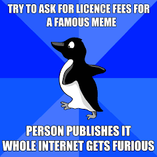 Cute Penguin Meme - would you pay for a meme getty claims copyright licence fees for