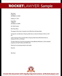 child visitation letter with sample