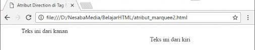 membuat teks berjalan menggunakan html cara membuat tulisan berjalan di html lengkap gambar