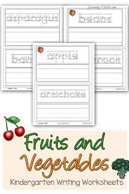 Preschool Handwriting Worksheets Fruits And Vegetables Kindergarten Writing Worksheets Writing