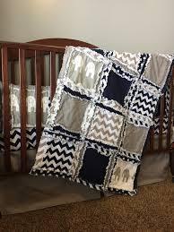 Circo Owl Crib Bedding by Custom Elephant Nursery Crib Bedding Navy Blue Chevron Grey