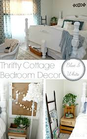Blue And White Bedrooms Thrifty Blue U0026 White Cottage Bedroom Makeover Mom 4 Real