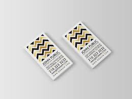 black and faux gold foil chevron business cards j32 design
