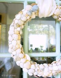 seashell wreath diy seashell wreath up to date interiors