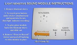 recordable cards light activated sound modules light sensitive recording devices