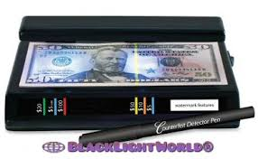 what can a black light detect black light world counterfeit currency detection