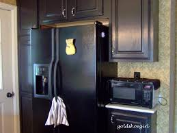 dark brown kitchen cabinets with black appliances full size of