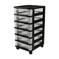 amazon black friday roll away tool boxes amazon com iris 6 drawer storage cart with organizer top black