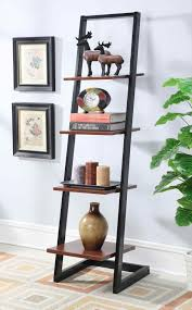 Corner Ladder Bookcase by Furniture Cherry Ladder Shelf Fascinating Interior Using Leaning