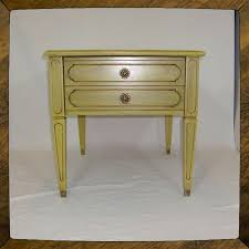 Yellow Side Table Handmade Shabby Chic Yellow Side Table End Table Cottage Table By