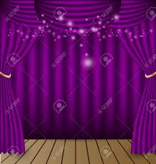Purple Curtains Purple Curtains Vector Background Royalty Free Cliparts Vectors